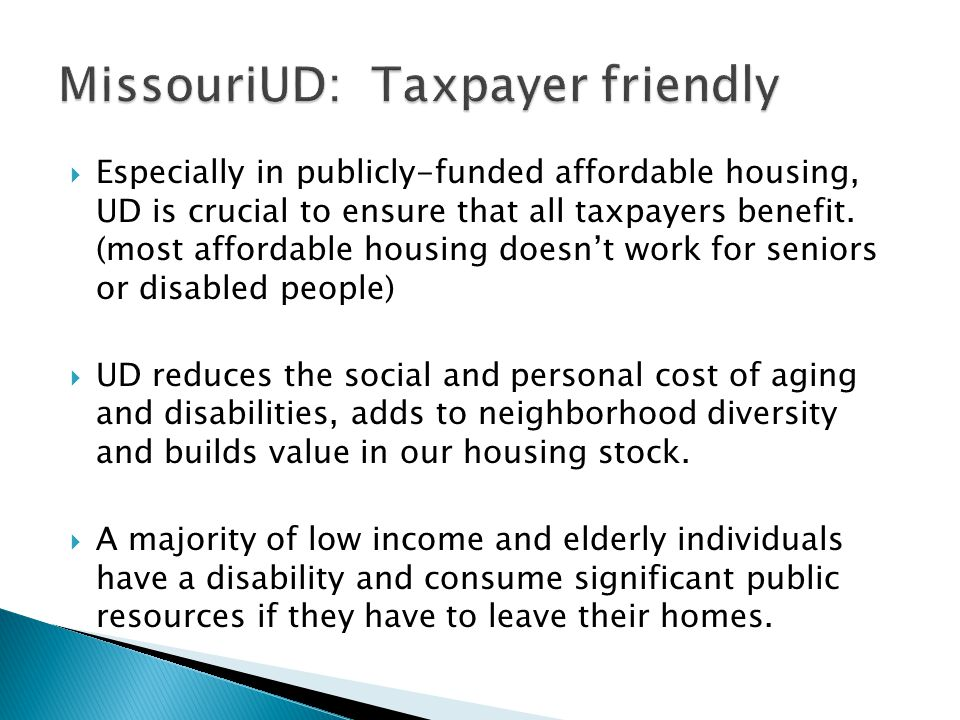 appraisers & bankers aging /disabled consumers and their builders Multi list services & realtors