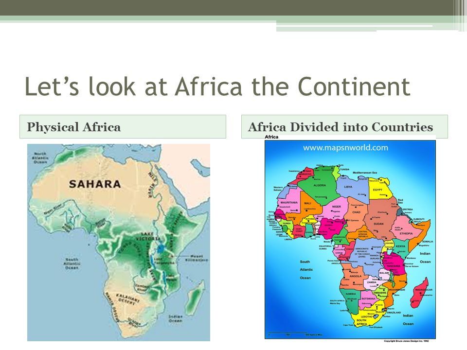 A Closer Look… A region of AfricaA country in that region