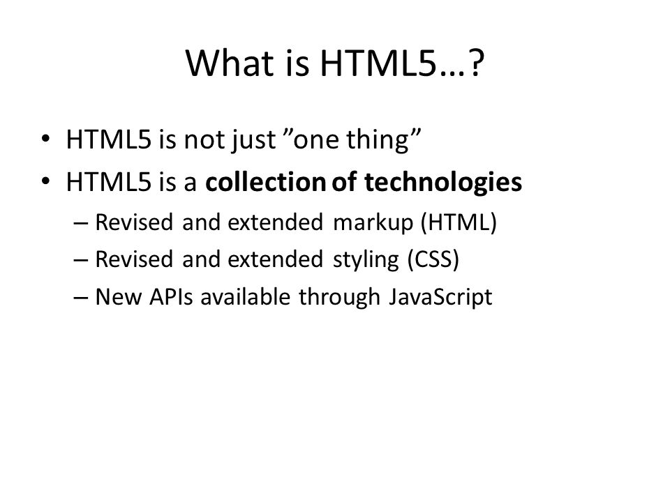 What is HTML5….