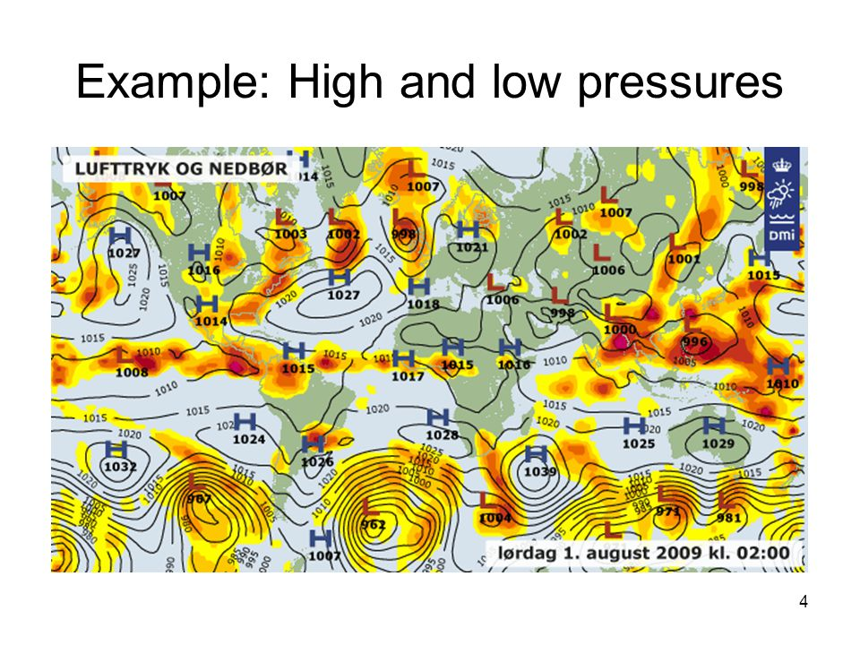 4 Example: High and low pressures