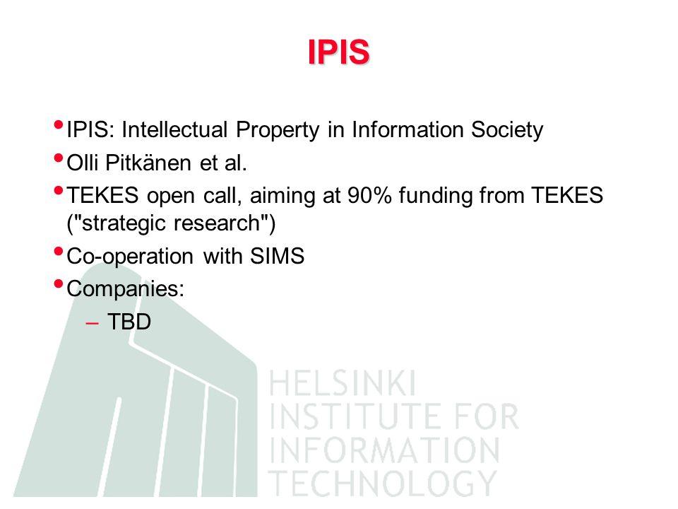RIPOS RIPOS: Risks and Prospects of Open Source Markku Stenborg (ETLA), Mikko Välimäki, Ville Oksanen TEKES open call Consortium HIIT + ETLA Companies: –SOT Oy, TietoEnator, MySQL, VM, HP, Novo, Fujitsu-Invia, IBM, Nokia, …