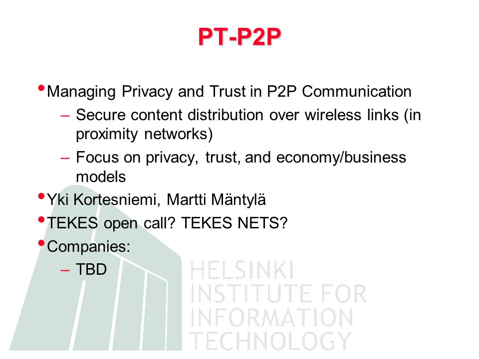 RMW RMW: Reflective Middleware for Personal Networking Kimmo Raatikainen TEKES NETS Counterstream
