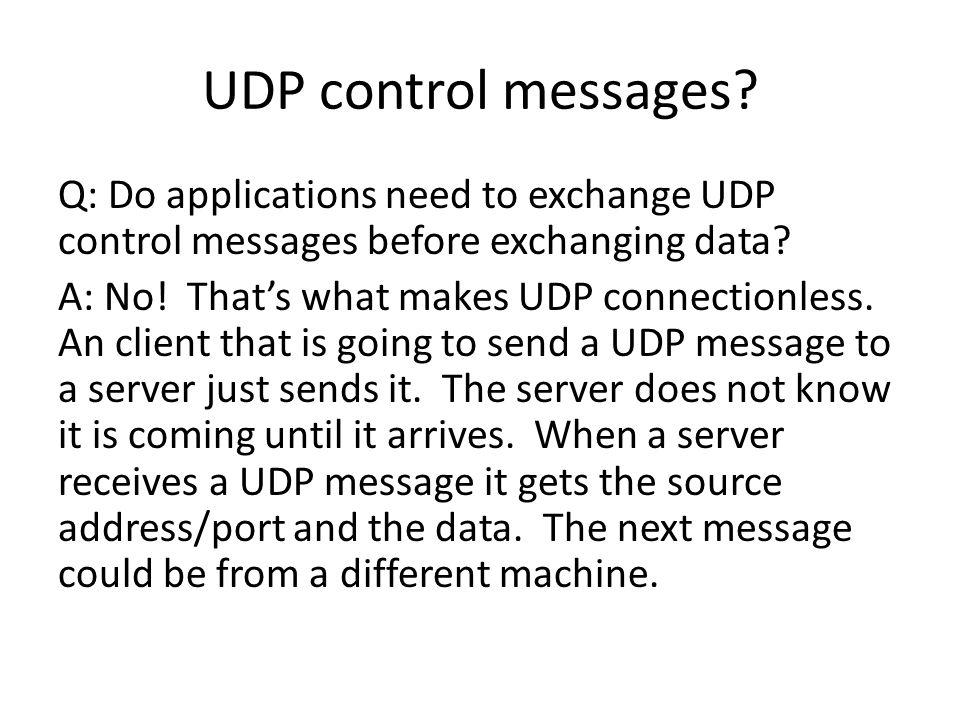 UDP control messages.