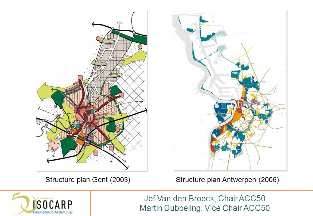 DANK VOOR UW AANDACHT THANK YOU FOR YOUR ATTENTION Jef Van den Broeck, Chair ACC50 Martin Dubbeling, Vice Chair ACC50 Structure plan Gent (2003)Struct