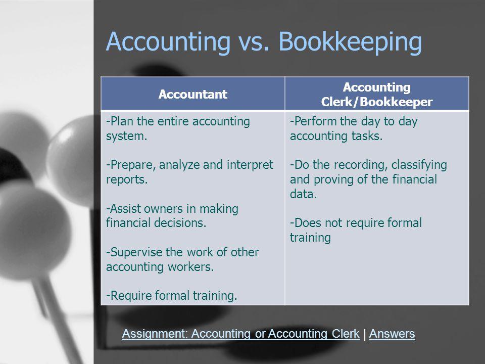 Accounting vs.