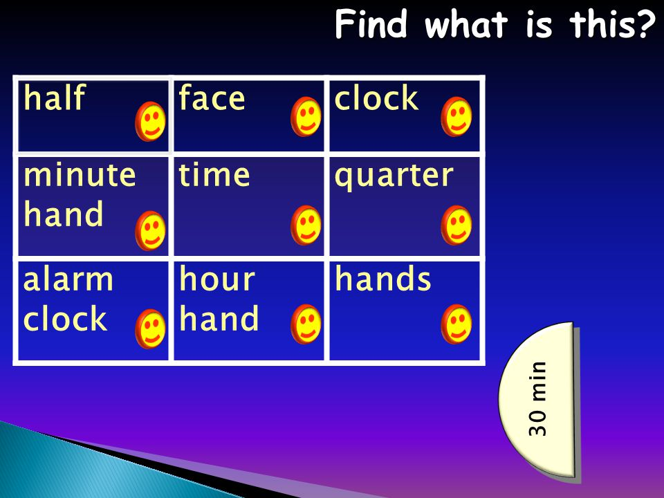 halffaceclock minute hand timequarter alarm clock hour hand hands Find what is this.
