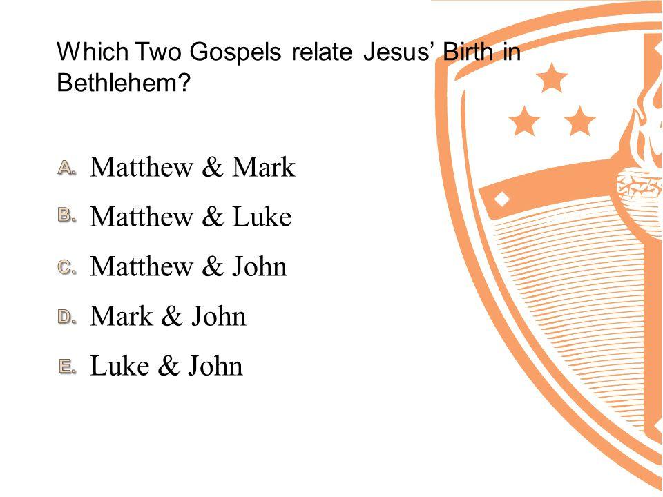 Which Two Gospels relate Jesus' Birth in Bethlehem.