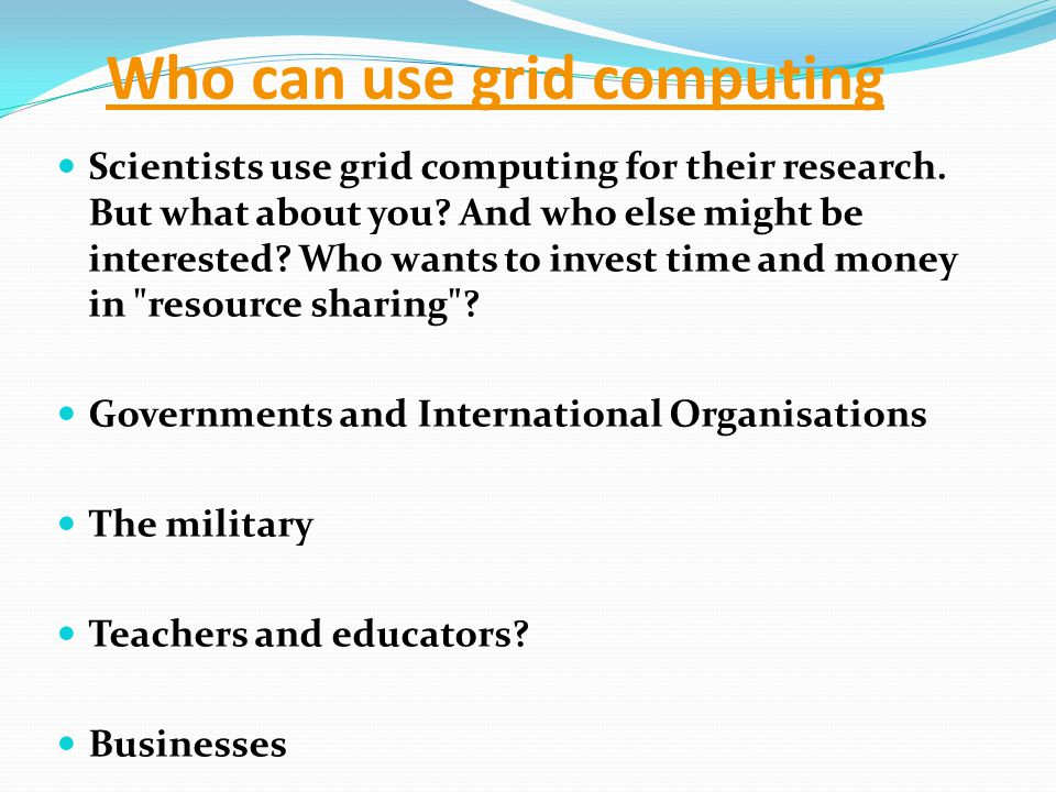 Simple Examples of Grid Computing