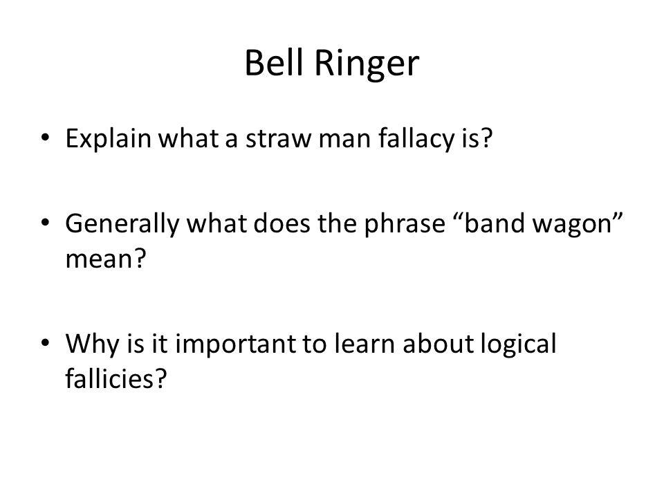 Logical Fallacy A fallacy is an argument that uses poor reasoning.