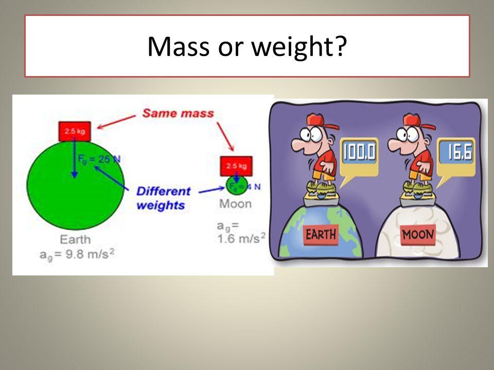Mass or weight?