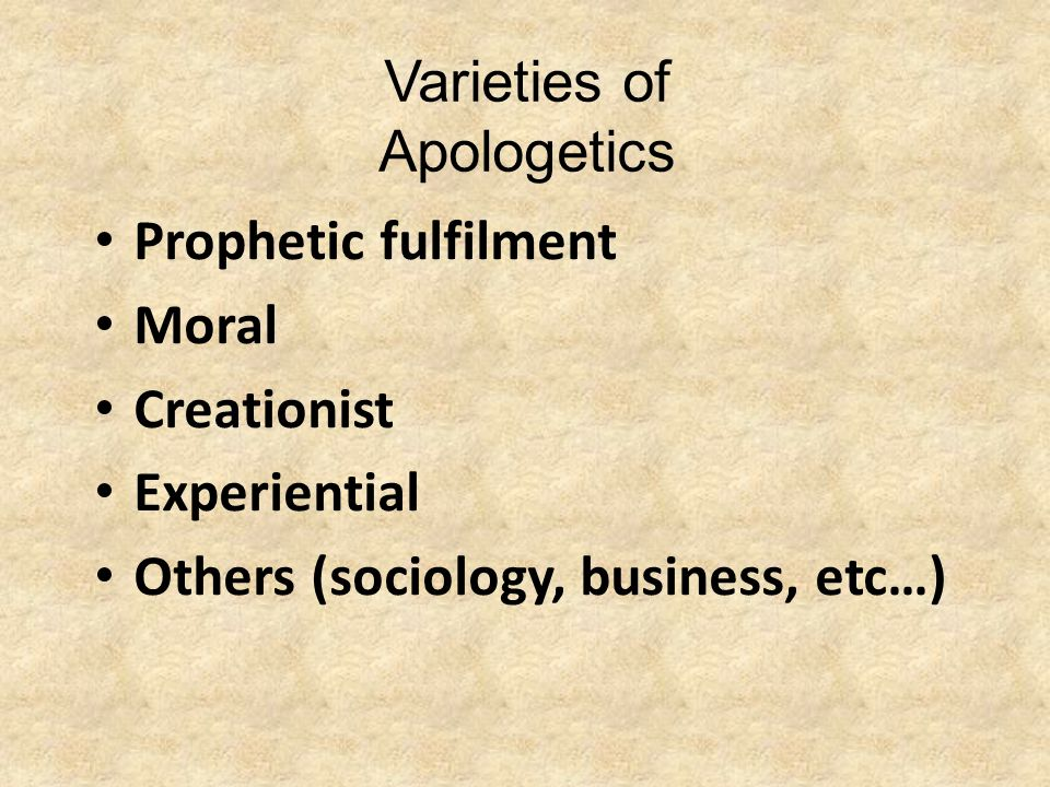 So… Since Christianity is a worldview, apologetics in some sense affects every aspect of life.