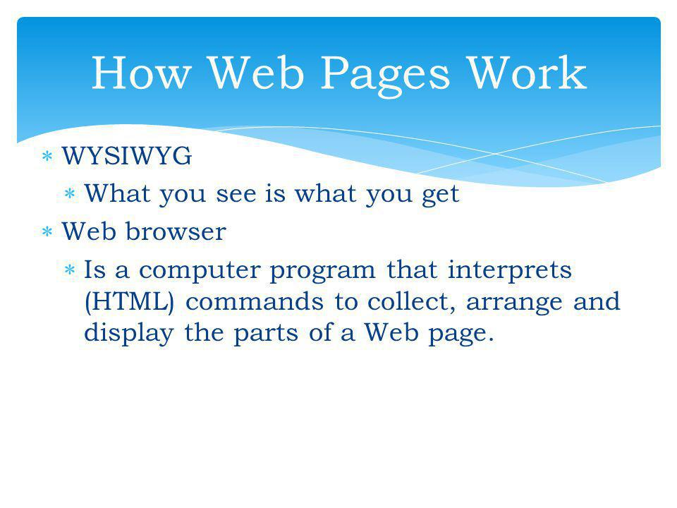 SS oftware for Editing HTML WW indows Notepad MM icrosoft FrontPage MM acromedia Dreamweaver SS.H.E.