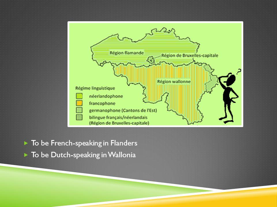 IDENTITY CONSTRUCTION & STRATEGIES OF ALLOPHONES IN BELGIUM  1.