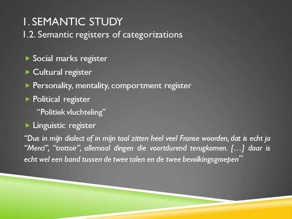 1. SEMANTIC STUDY 1.2.