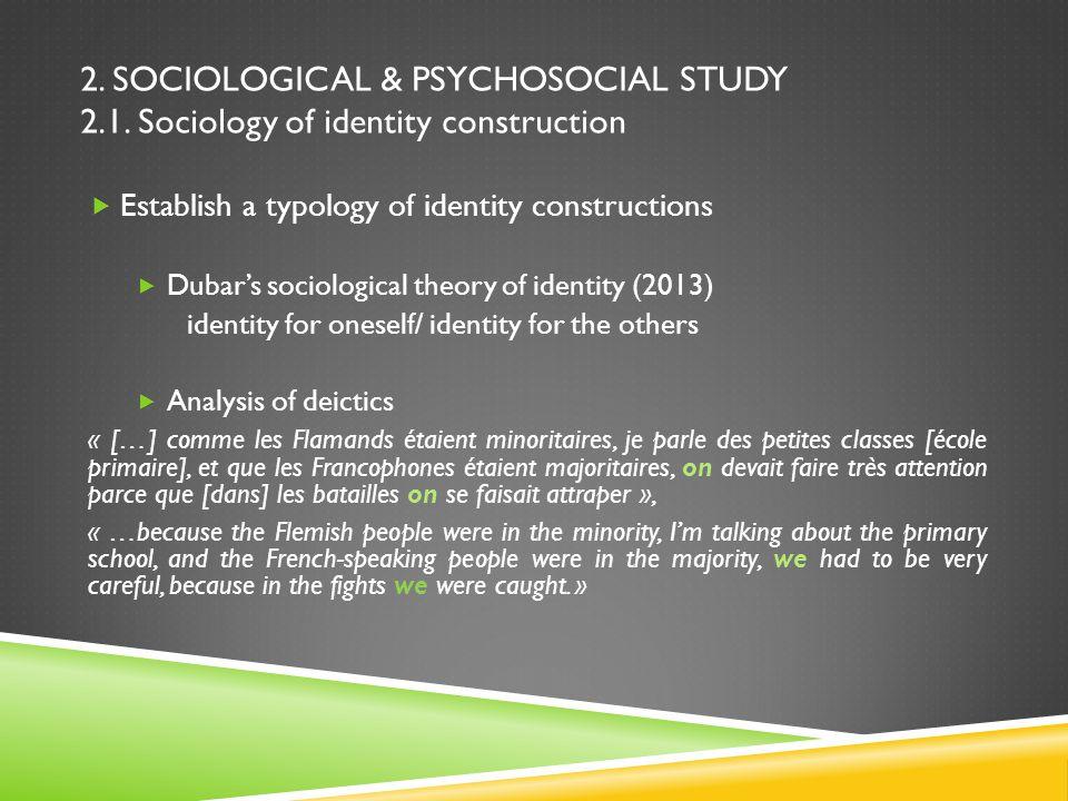 2. SOCIOLOGICAL & PSYCHOSOCIAL STUDY 2.1.
