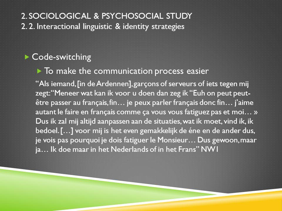 2.SOCIOLOGICAL & PSYCHOSOCIAL STUDY 2. 2.