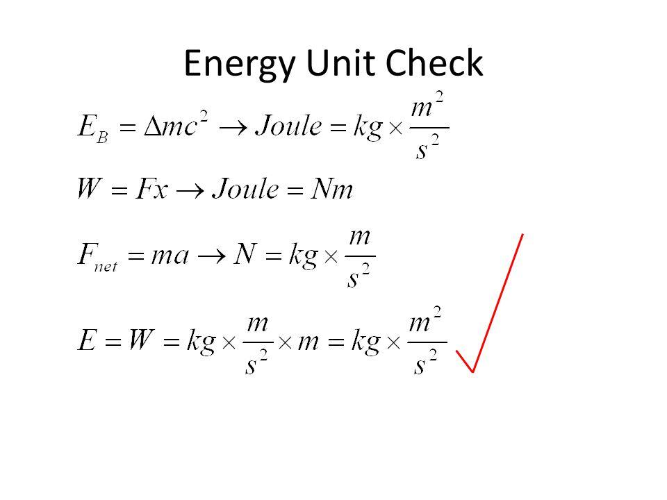 Energy Unit Check