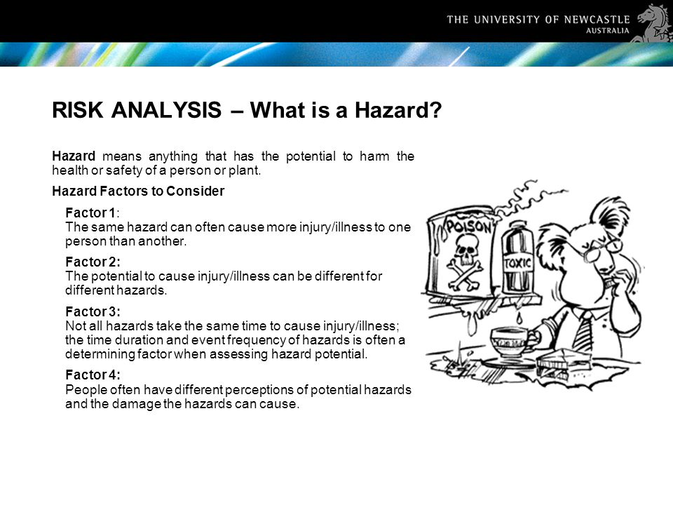 RISK ANALYSIS – What is a Hazard.