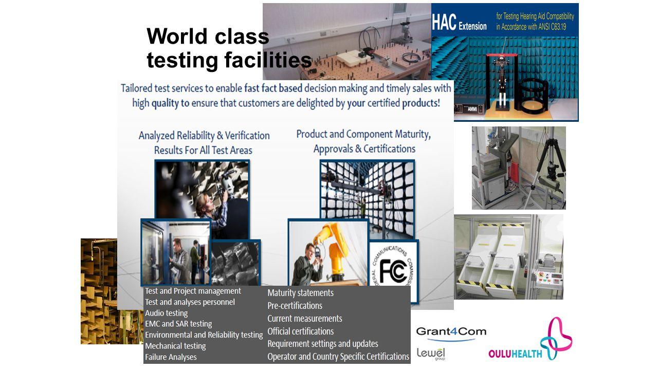 World class testing facilities