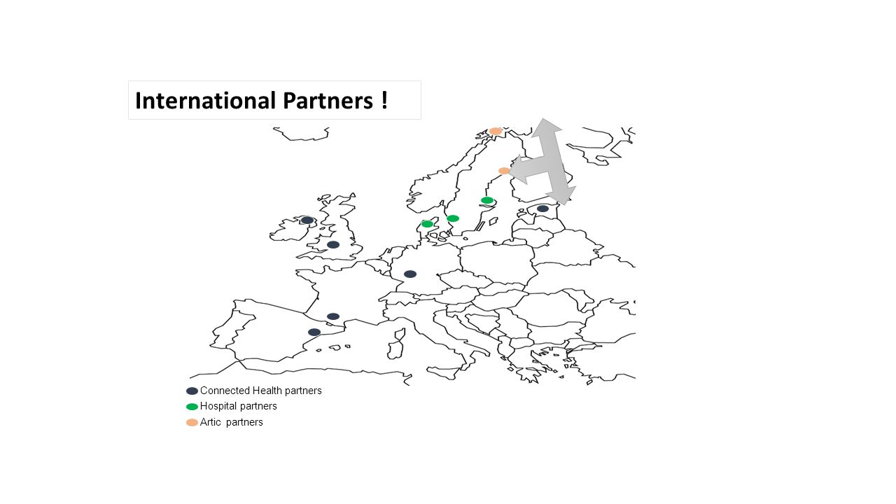 Connected Health partners Hospital partners Artic partners International Partners !