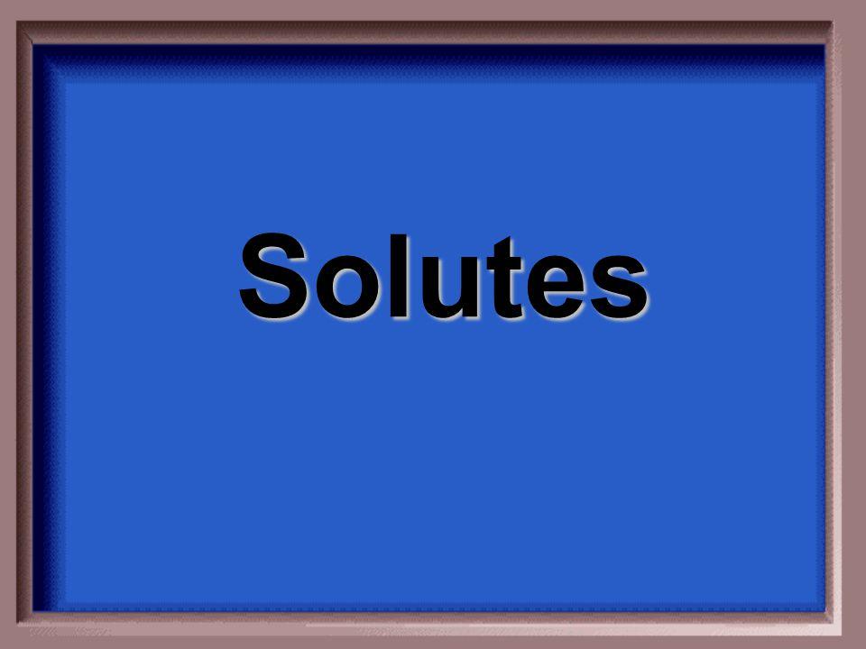 Solutes