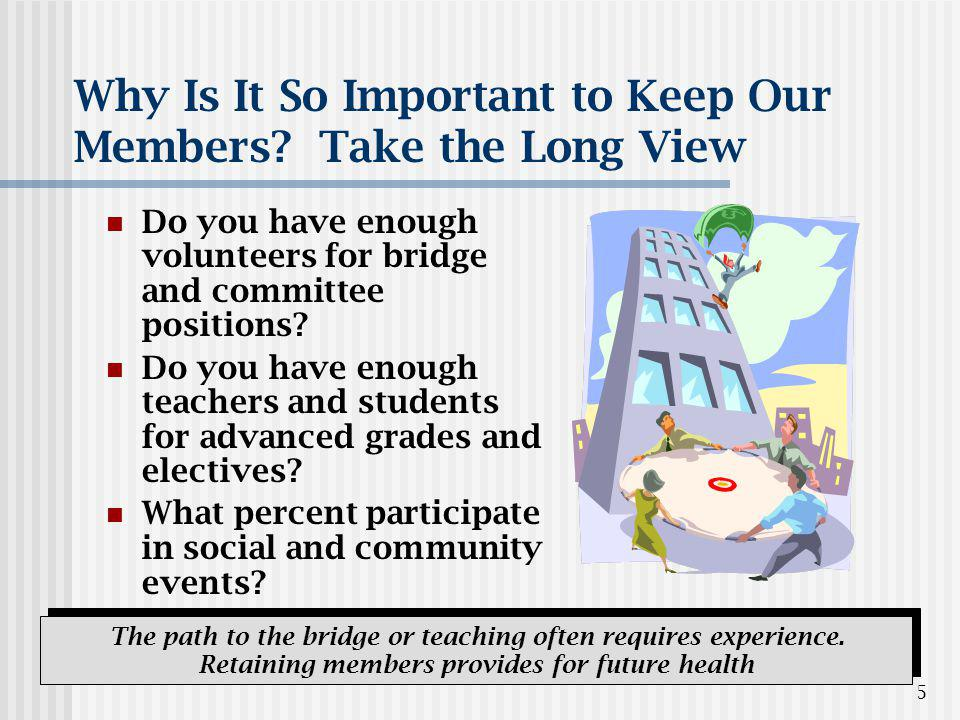 5 Why Is It So Important to Keep Our Members.