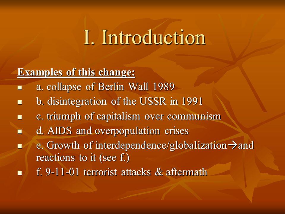 II.Definitions Comparative Politics J. McCormick (p.