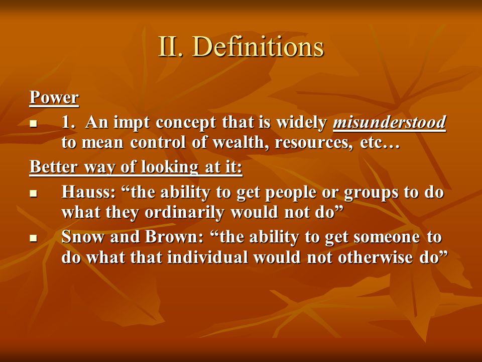 II. Definitions Power 1.