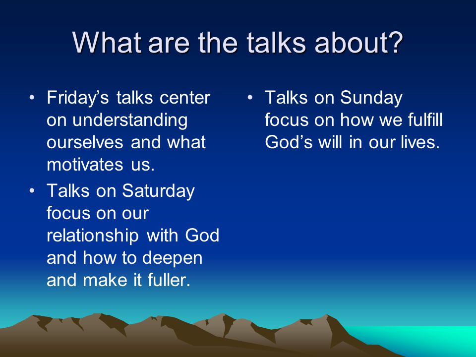 What are the talks about. Friday's talks center on understanding ourselves and what motivates us.