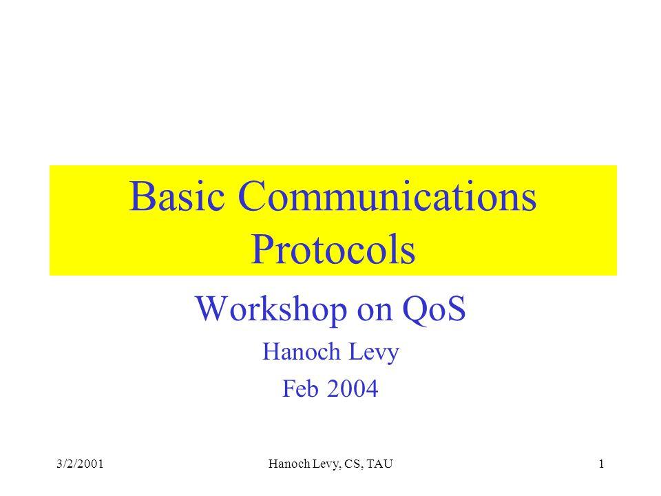 3/2/2001Hanoch Levy, CS, TAU2 The objective: A talk to B, C talk to D, best performance A A B D C
