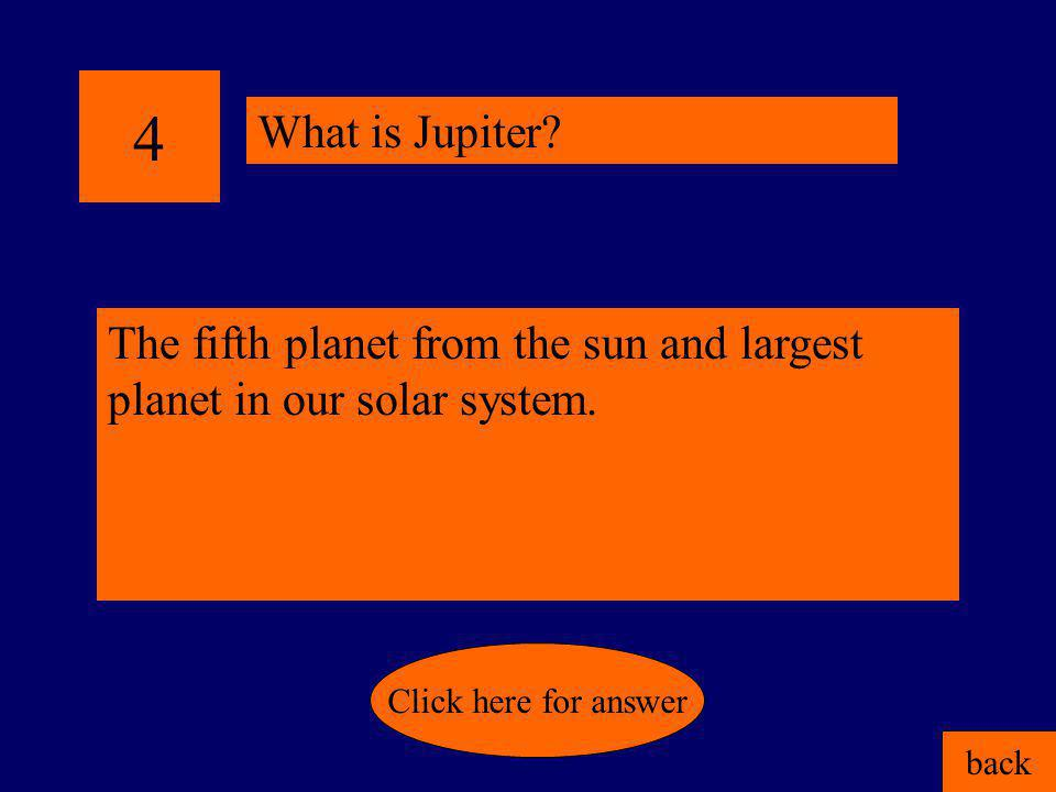 3 Pluto's order from the sun. back Click here for answer What is ninth?