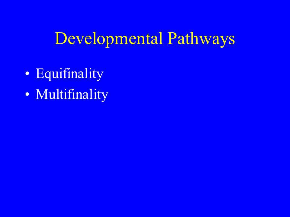 Developmental Pathways Equifinality Multifinality