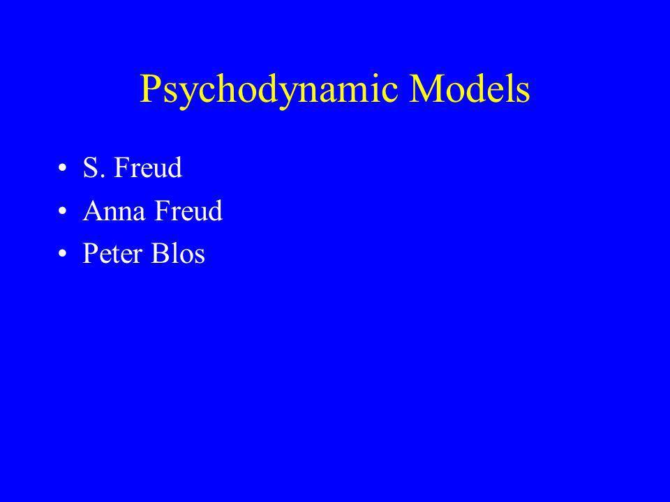 Psychodynamic Models S. Freud Anna Freud Peter Blos