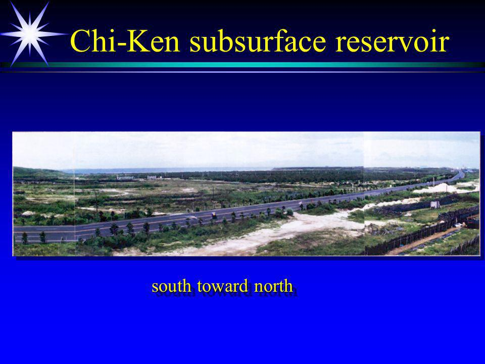 Chi-Ken subsurface reservoir south toward north