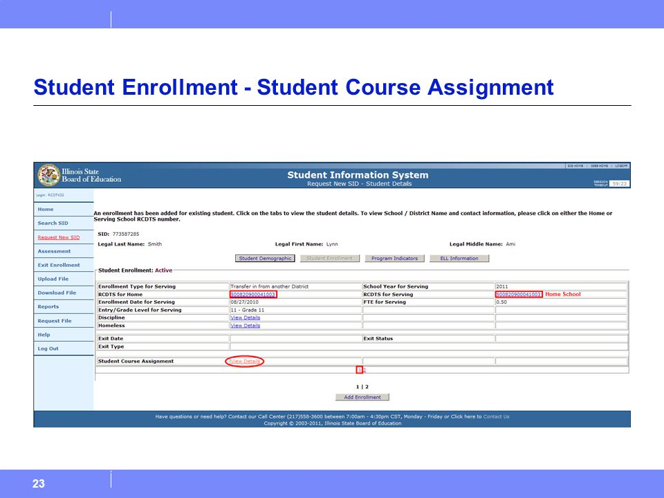 23 Student Enrollment - Student Course Assignment