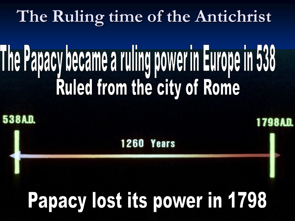 21BT The Ruling time of the Antichrist