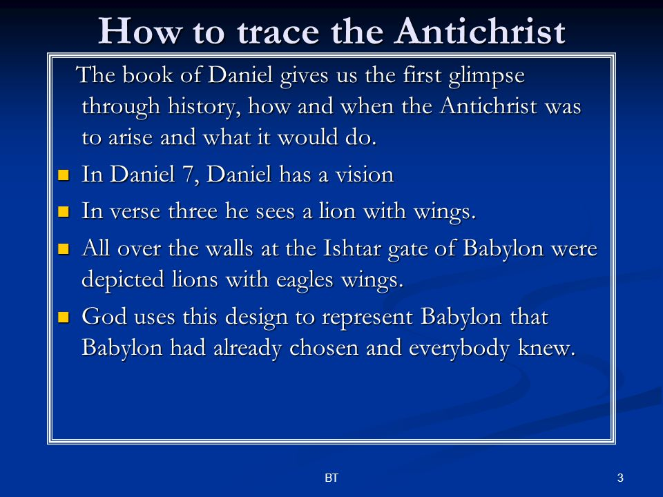 44BT ~A PROPECY FULFILLED~ The Prophecy: The Prophecy: 2 Thess.