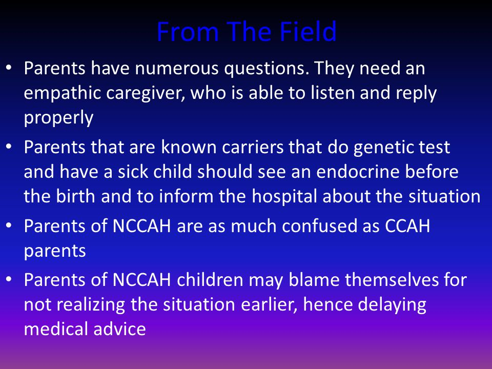 From The Field Parents have numerous questions.