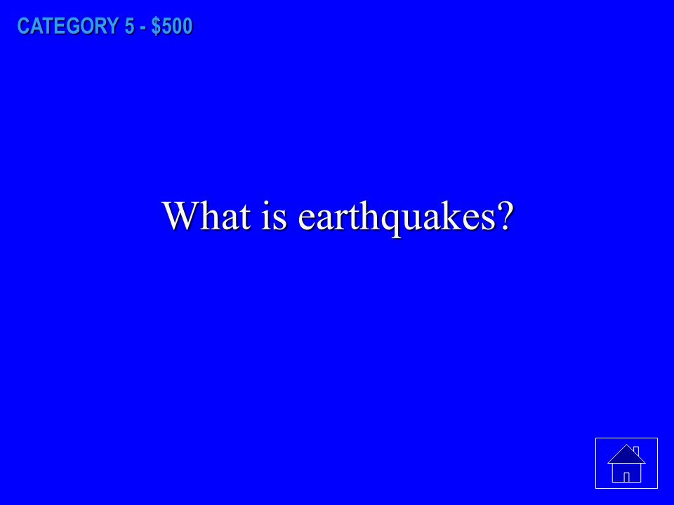 CATEGORY 5 - $400 What is the lithosphere