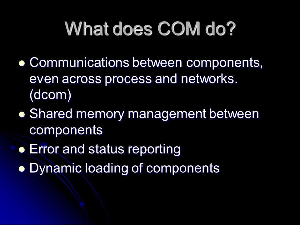 How does COM do it.
