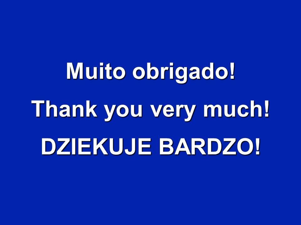 Muito obrigado! Thank you very much! DZIEKUJE BARDZO!