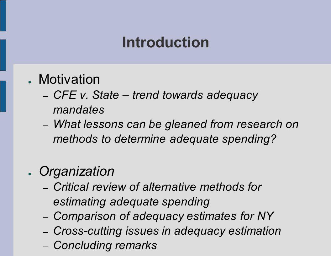 Introduction ● Motivation – CFE v.