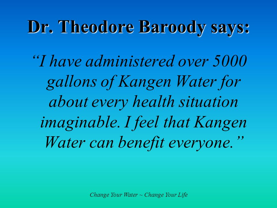 Change Your Water ~ Change Your Life Dr.
