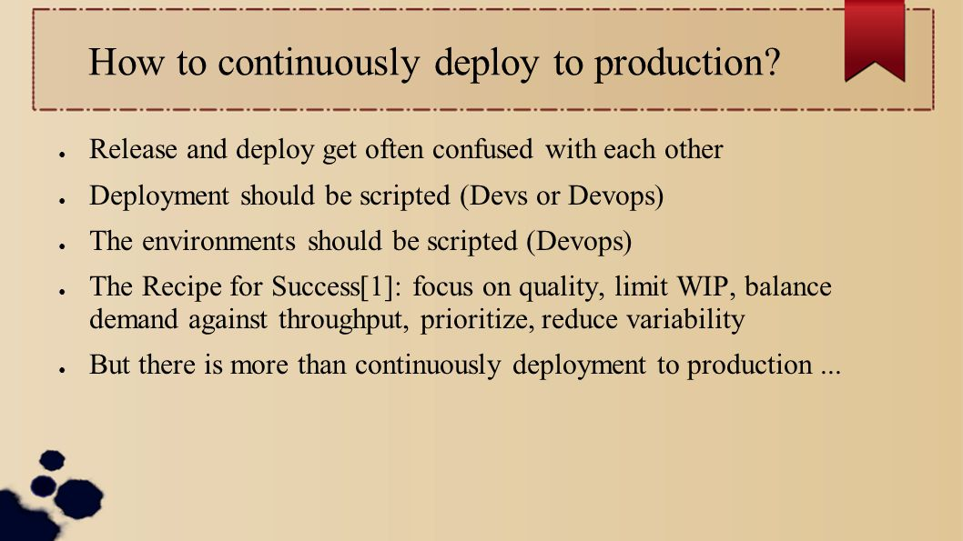 How to continuously deploy to production.