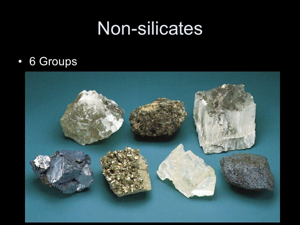 Non-silicates 6 Groups