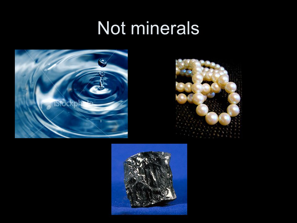 Most minerals are compounds Quartz: silicon and oxygen –SiO 2 – Most abundant in earth's crust Halite: sodium and chloride –NaCl