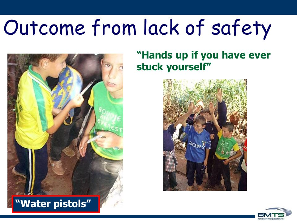 Hands up if you have ever stuck yourself Water pistols Outcome from lack of safety