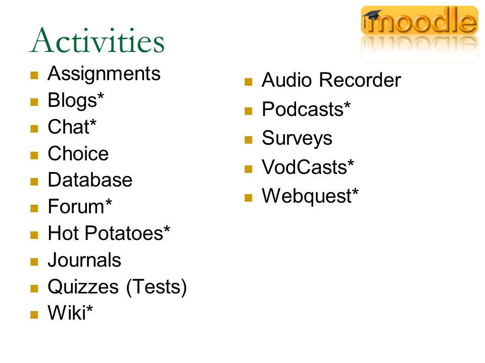 Podcasts Podcasts are a complete course in its own right and are fantastic class learning projects.