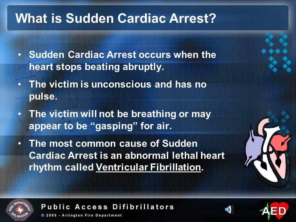 Sudden Cardiac Arrest occurs when the heart stops beating abruptly.