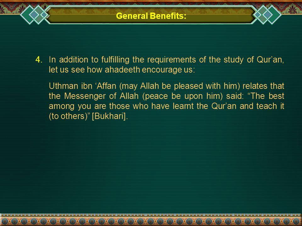 General Benefits: 4.